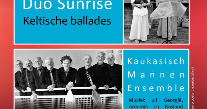 Stichting Klassiek Leek concert Kaukakisch Mannenensemble duo Sunrise